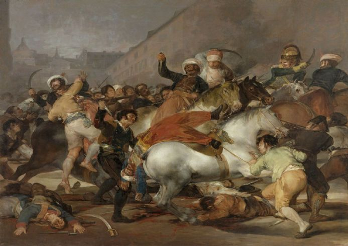 Goya, Francisco de: The Second of May 1808 or The Charge of the Mamelukes. Fine Art Print/Poster. Sizes: A4/A3/A2/A1 (00596)
